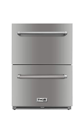 - Thor Kitchen 5.3cu.ft Built-in Compact Refrigerator Ventilated Cooling Under Counter Mini Fridge - Stainless Steel - 1 Years Warranty
