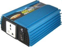 PowerBright ERP400-12 400W 220V/50Hz 12 Volt DC Power Inverter, 4400W continuous power, 800W peak load power rate, Anodized aluminum case provides durability & max heat dissipation, Built-in cooling fan