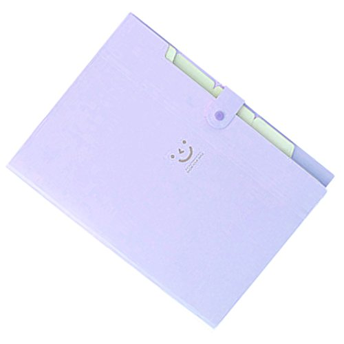 Amazon.com : TOOGOO(R) Kawaii FoldersStationery Carpeta File Folder 5layers Archivadores Rings A4 Document Bag Office Carpetas£¨Purple£ : Office Products