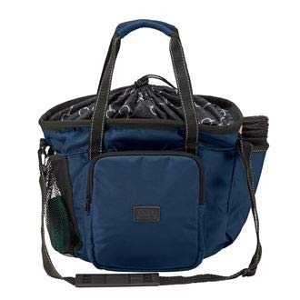 Dover Saddlery Bit-by Bit Deluxe Grooming Tote, One Size, Blue/Bit by Bit Lining