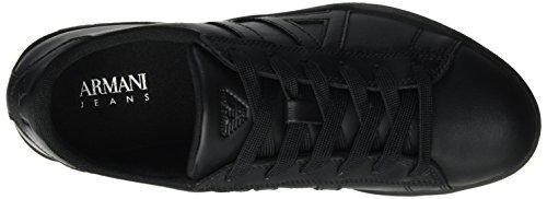 Armani Jeans Herren Sneaker Low Cut Schwarz (Nero)