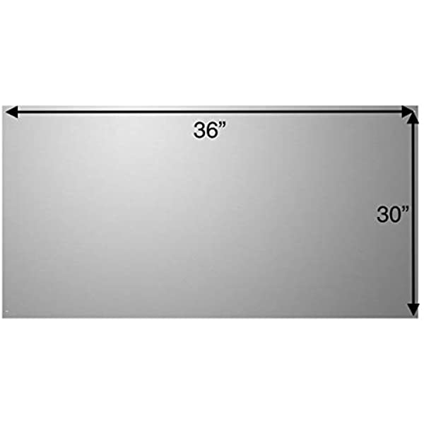 Broan RMP3604 Backsplash Range Hood Wall Shield with Removable Shelves for Kitchen Stainless Steel 36