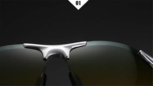 Polarized XIYANG y Espejo Drive de Nocturna Sol Negro Gafas Silver de Magnesium Aluminium conducción Diurna Men's wwfqFIWB