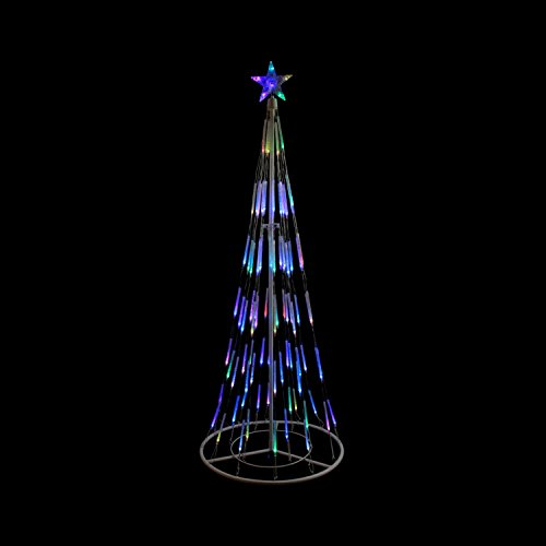 Northlight White Double Tier Bubble Cone Christmas Tree L...