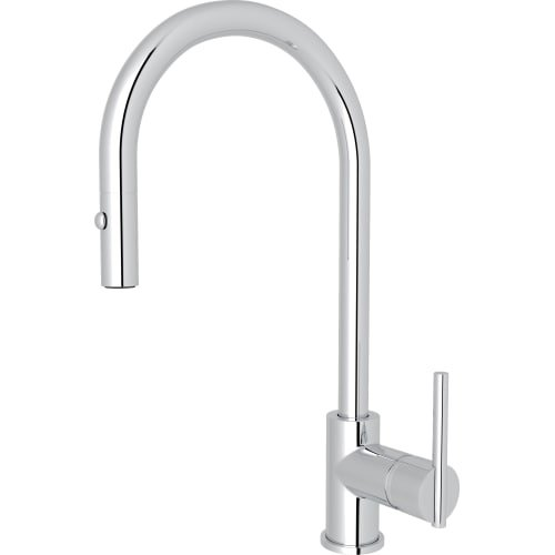 Rohl CY57L-2 Brass Kitchen Faucet with 360° Swivel Spout, Polished Chrome by Rohl