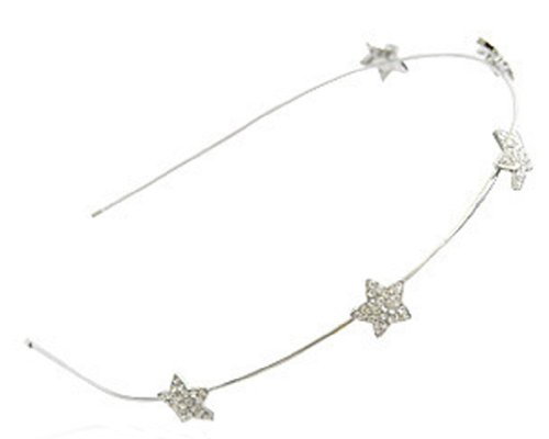 BONAMART Silver NEW ARRIVAL Girl Women Handcraft Crystal Star Hair Hairband Hair Band Headband Accessories -