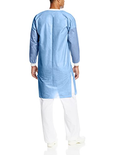 ValuMax 3560CBL Easy Breathe Cool and Strong, No-Wrinkle, Professional Disposable SMS Knee Length Lab Coat, Ceil Blue, L, Pack of 10 by Valumax (Image #2)