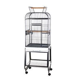 Victorian Open Top Bird Cage and Stand Color: Pure White, My Pet Supplies