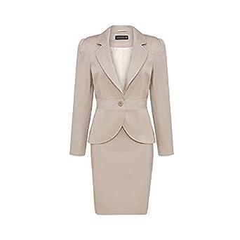 zara woman combined office. Zara Woman - Women\u0027s Tailored Slim Fit Ladies Formal Work Office 2-Piece Skirt Suit Combined