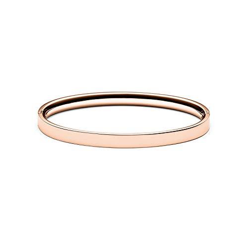 MVMT Women's Ellipse Bangle Bracelet   Clasp Closure, Stainless Steel   Rose Gold - Bracelet Gunmetal Bangle