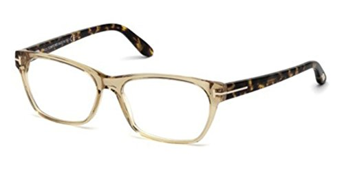 TOM FORD Women's TF 5405 045 Clear Beige Clear Butterfly Eyeglasses - Tom Ford Eyeglasses Butterfly