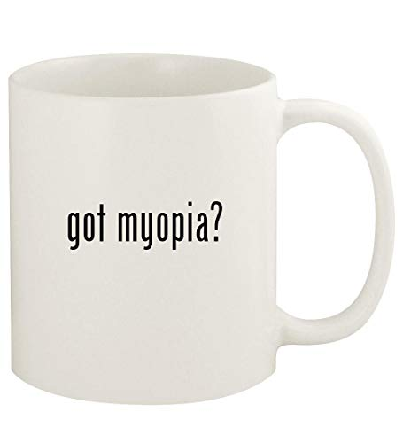 got myopia? - 11oz Ceramic White Coffee Mug Cup, White
