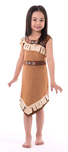 Little Adventures Native American Princess Dress Up Costume for Girls (Medium Age 3-5) -