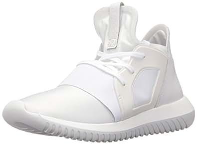 Adidas ORIGINALS Women's Tubular Defiant Fashion Running Shoe, Core White/Black, 6.5 B(M) US
