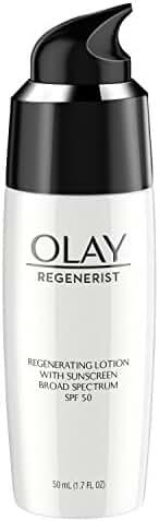 Olay Regenerist Regenerating Face Lotion With Sunscreen Broad Spectrum SPF 50, 1.7 Fl Oz
