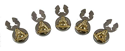 (4031885 Past Master Two Tone Button Covers Formal Dress Mason Freemason Masonic Formal Dress)