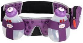 FuelBelt H2O Helium 2 Bottle Hydration Belt Purple Adjustable Running Waist Bag
