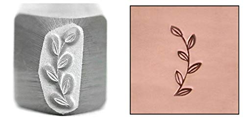 (Garden Branch Metal Design Stamp, 10mm Stem with Leaves Border Punch Stamping Tool for Hand Stamped DIY Jewelry Crafts - Beaducation Original Metal Design Stamps)