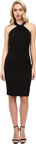 Taylor Dresses Women's Halter Neck Bodycon Zip Back Sheath, Black, 10