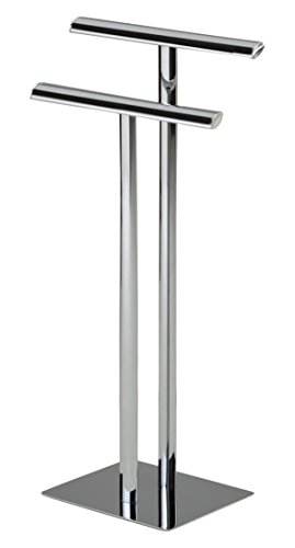 Kings Brand Chrome Metal Modern Free Standing Towel Rack Stand by Kings Brand Furniture