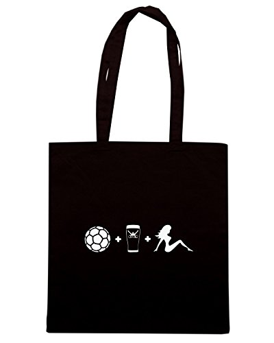 T-Shirtshock - Bolsa para la compra WC0616 TYPICAL SATURDAY T-SHIRT Negro