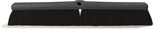Carlisle 4056200 Floor Sweep, Plastic Foam Block, 3''-Long Black Horsehair/Polypropylene Bristles, 24'' L x 2-5/8'' W (Case of 12) by Carlisle