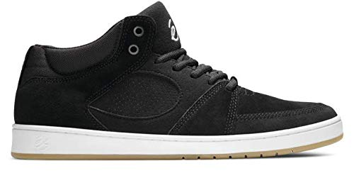 eS Men's Accel Slim MID Skate Shoe, Black/White/Gum, 11 Medium - Top Skate Shoe Mid