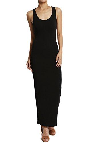 long black racerback dress - 1
