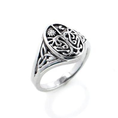 Amazoncom Celtic Trinity Knot Tree of Life with Sun and Moon