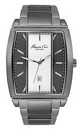 Kenneth Cole New York Mens Dress Two Tone Dial Gunmetal IP Stainless Steel Bracelet Watch KC9097
