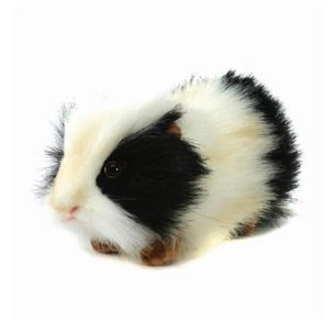 Hansa Guinea Pig Stuffed Plush Animal Black White from Hansa