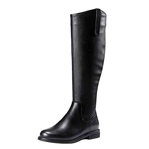Li Prueba Invierno Cabeza Cuero Planas Sobre Redondas Miss Rodilla Otoño Calzado Botas La E A Para Black El De Clásico Agua dBp6Cq