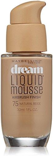 Maybelline Dream Liquid Mousse Airbrush Foundation, Natural Beige Medium 2.5 1 oz Pack of 12