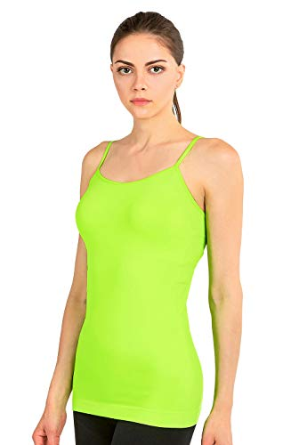 MOPAS Women's Seamless Nylon Camisole Tank Top - N.Lime