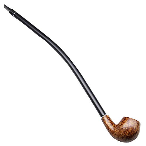 KT Creative Long Rod Solid Wooden Pipe, Length 41cm Extra Long Pole Mountain Wood Tobacco Pipe -