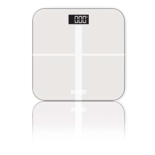 Kinzi Precision Digital Bathroom Scale w/ Extra Large Lighted Display, 400 lb. Capacity and ''Step-On'' Technology by Kinzi (Image #1)