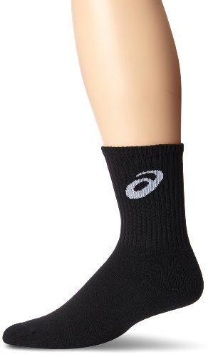 - ASICS Men's Team Crew Sock, Black, Medium