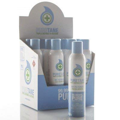 Puretane N-Butane Food-grade Triple Refined 9X Filtered Butane Gas - 12 Cans - Display Case *HAZMAT SHIPPING INCLUDED* by puretane