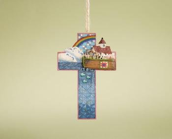 Jim Shore Noah's ARK Cross Hanging (Noahs Ark Jim Shore)