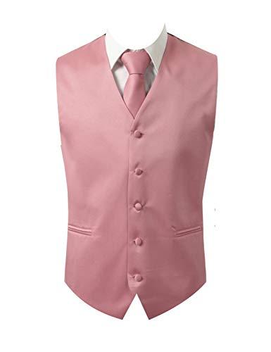 (Mens 3pc Vest Set-Dusty Rose-XL)
