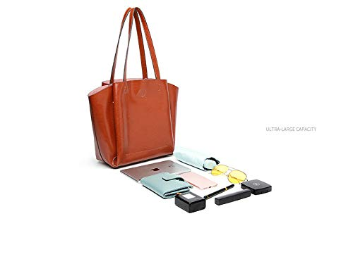 Top Soft Cartelle Pu Di Viaggio Shirley Tote Per Shopping Capacità Coffee Bags Lavoro Pelle In Le A Commute Borsa black Grande Tracolla Donne S 0HwxRO4x