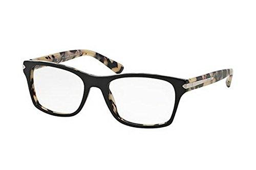 Prada PR16SV Eyeglass Frames ROK1O1-52 - Top Black/white Havana by Prada