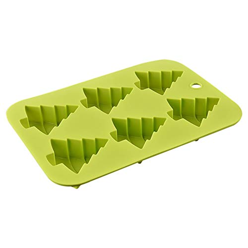 zhangwei 6 Shaped Christmas Tree Cake Silicone Mold for Christmas Tree Ice -