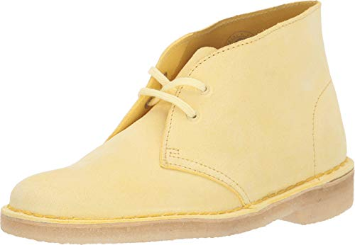 - CLARKS Women's Desert Boot Pale Yellow Suede 6.5 B US