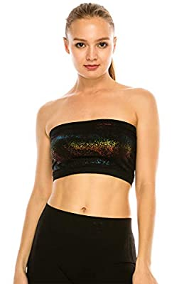 Kurve Seamless Bandeau Tube Top - UV Protective Fabric, Rated UPF 50+ (Non-Padded) -Made in USA-