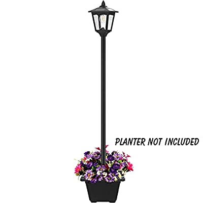 68'' Solar Lamp Post Lights Outdoor, Solar Powered Vintage Street Lights for Lawn, Pathway, Driveway, Front/Back Door, Planter Not Included