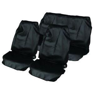 Hyundai i10 Front /& Back Seat Protectors Heavy Duty Waterproof Cover Black