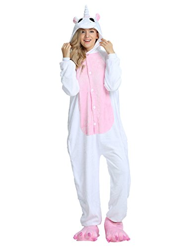 LATH.PIN Adult Onesie Animal Unicorn Pajamas Sleepwear Kigurumi Cosplay Halloween Costume (L (Height 171-180 cm), (180 Animals)