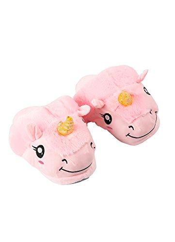 Maison En Rose Chaussures Paire De Peluche Des DarkCom Glissement Chaussons Licorne Unisexe Adultes Mignon La À 1 Sur wqTqOzp