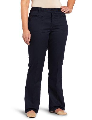 Dickies Juniors Stretch Welt Pocket Flare Bottom Pant, Dark Navy, - Pocket Bottom Pant Flare Welt
